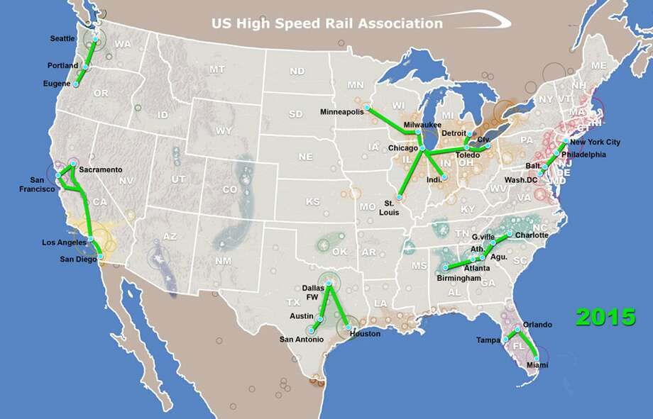 Maps Show Where High Speed Trains Could Travel Beyond A Houston