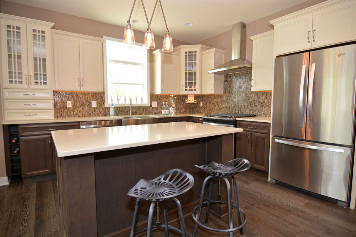 The kitchen of the Aston model townhouse at Malta Springs, a Barbera Homes development.