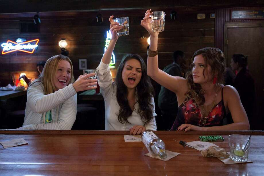 """Kristen Bell, left, Mila Kunis and Kathryn Hahn in a scene from """"Bad Moms."""" """"I really appreciated that this was not a story about a mom who was trying to be better and in the end she got better,"""" Bell said. """"It's about the idea that we are all on the same team as moms and we have let this idea of division infect us all."""" Photo: Michele K. Short / STX Productions / Associated Press / © 2016 STX Productions, LLC. All Rights Reserved."""