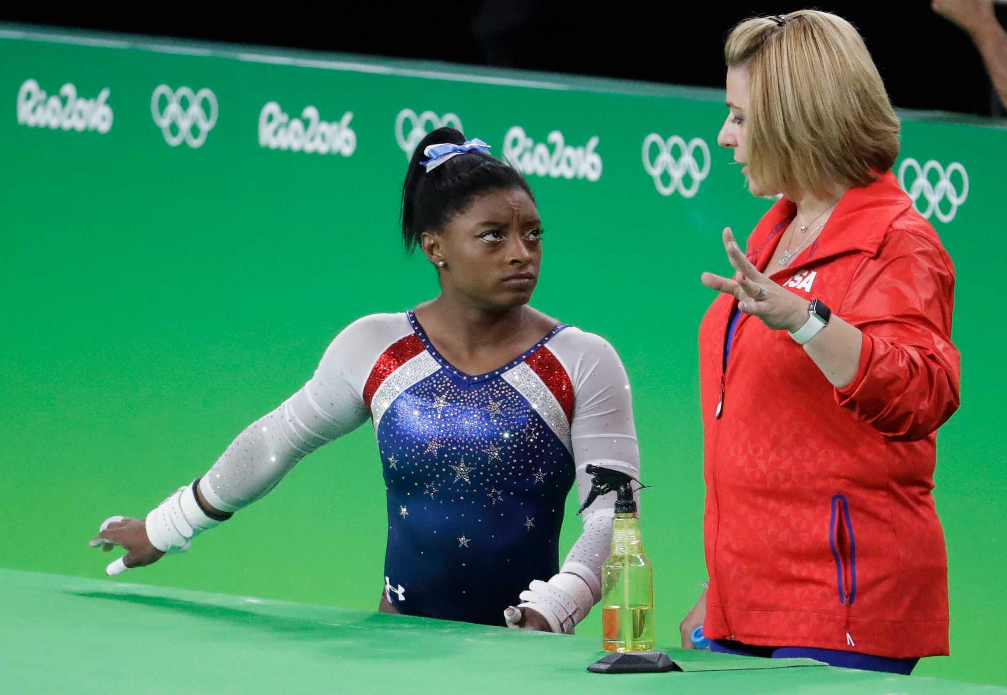 Gymnastics Coaches Aimee Boorman Kim Zmeskal Burdette