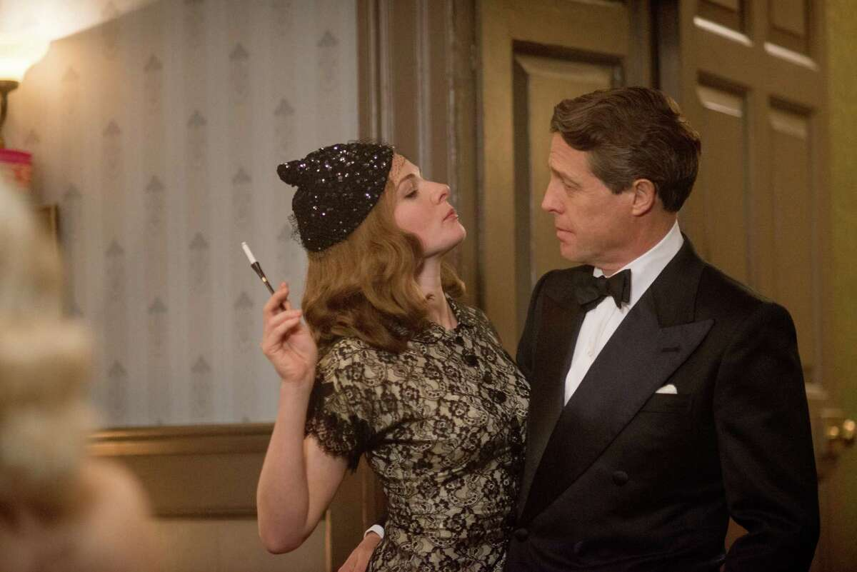This image released by Paramount Pictures shows Rebecca Ferguson as Kathleen, left, and Hugh Grant as St Clair Bayfield in,