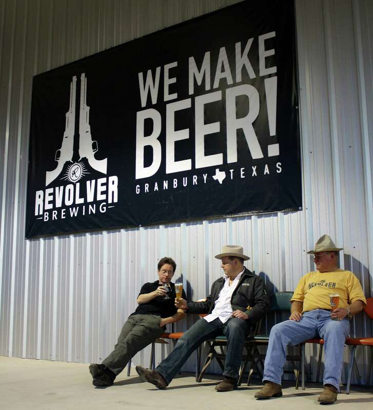 Revolver Brewing Co. of Granbury announced Aug. 11, 2016, that it is being acquired by the craft and import division of MillerCoors. The owners, from left, Grant Wood, Rhett Keisler and Ronnie Keisler.