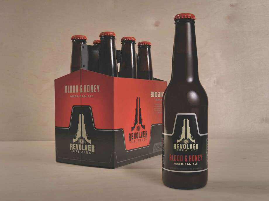 Blood and Honey American Ale by Revolver Brewing Co., Granbury