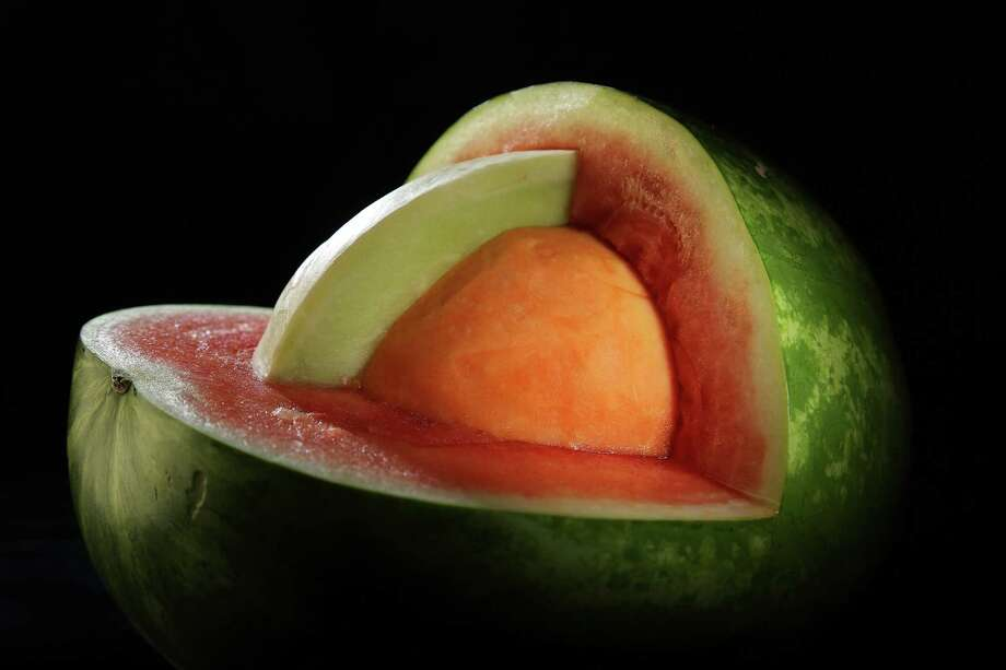 A watermelon, honeydew melon and cantaloupe. (Chris Lee/St. Louis Post-Dispatch/TNS) Photo: Chris Lee, MBR / TNS / St. Louis Post-Dispatch
