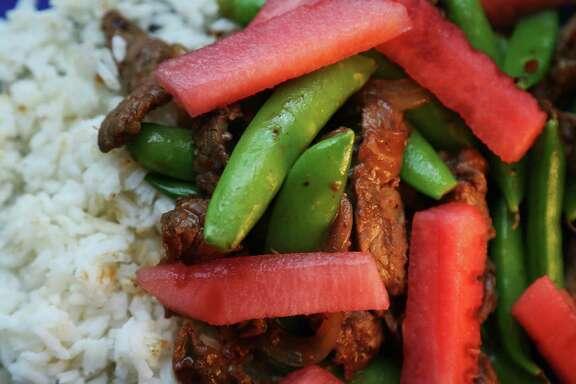 Beef and Watermelon Stir-fry. (Chris Lee/St. Louis Post-Dispatch/TNS)