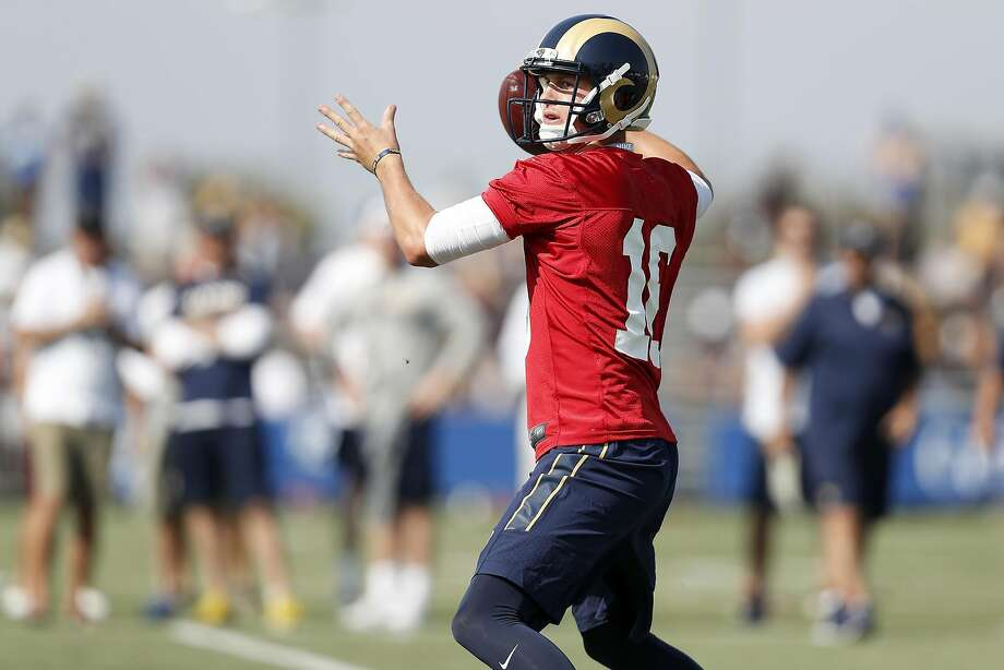 "Jared Goff and the Rams are the focus of this year's HBO training-camp documentary, ""Hard Knocks."" Photo: Ryan Kang, Associated Press"