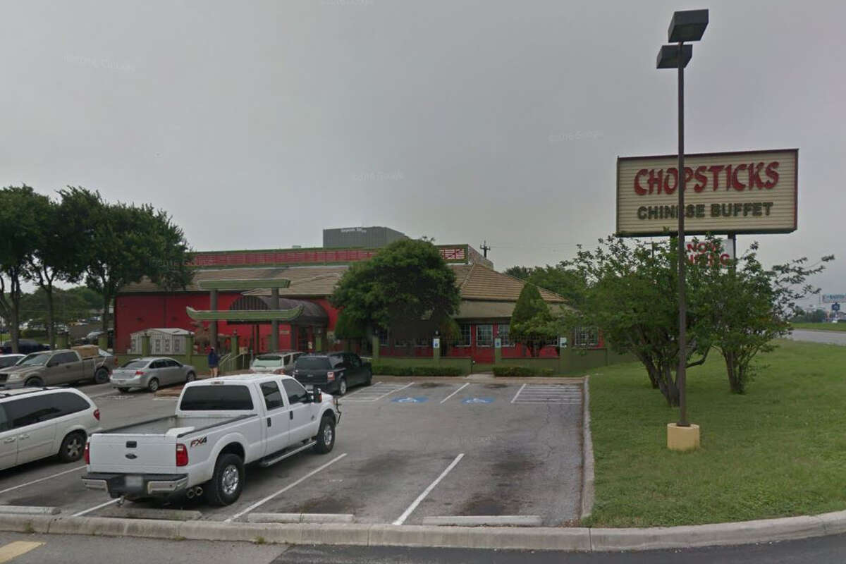 CHOPSTICKS: 4903 LOOP 410 NW San Antonio, TX 78229 Date: 06/28/2018 Score 78 Highlights: All raw chicken, beef, pork and cooked ribs were off temperature inside walk-in cooler, observed food debris under all equipment, under shelves, inside cold hold units and behind soda fountains, water left behind from cleaning floors collecting under shelves and appliances, grease build up in between cooking equipment.