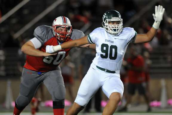 Sam Miller, a Northwestern commit, will anchor the Stratford defensive line.