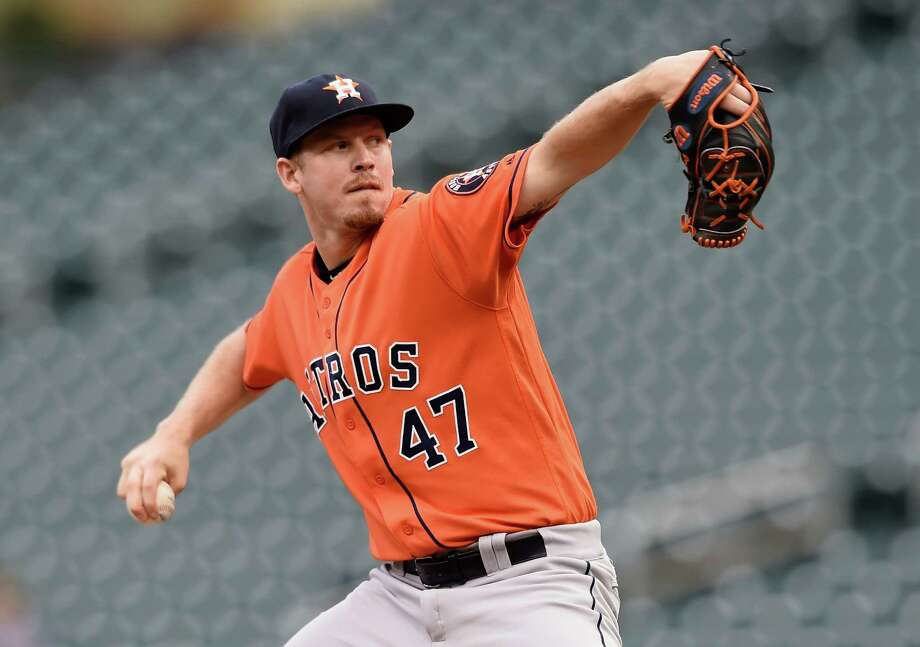 MINNEAPOLIS, MN - AUGUST 11: Chris Devenski #47 of the Houston Astros delivers a pitch against the Minnesota Twins during the first inning of game two of a doubleheader on August 11, 2016 at Target Field in Minneapolis, Minnesota. Photo: Hannah Foslien, Getty Images / 2016 Getty Images