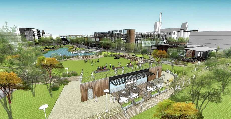 Aqualand and CBL planned to redevelop the brewery complex with a boutique hotel, several apartment complexes, 105,000 square feet of office space and 271,000 square feet of retail and entertainment space. Photo: CallisonTRKL /Courtesy Of Aqualand Development And CBL & Associates Properties Inc. / CallisonTRKL