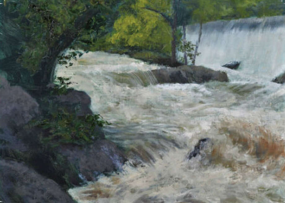"""The Morrison Gallery in Kent is presenting an exhibit, """"In the Hood,"""" featuring recent landscape paintings by Kent artist Robert Lenz through Aug. 14. The exhibit includes this painting of Bull's Bridge after a storm. While awaiting construction of a new gallery in Kent, Morrison Gallery is currently housed in a temporary space at 25 North Main St. For more information, visit www.morrisongallery.com. Photo: Courtesy Of Robert Lenz / The News-Times Contributed"""