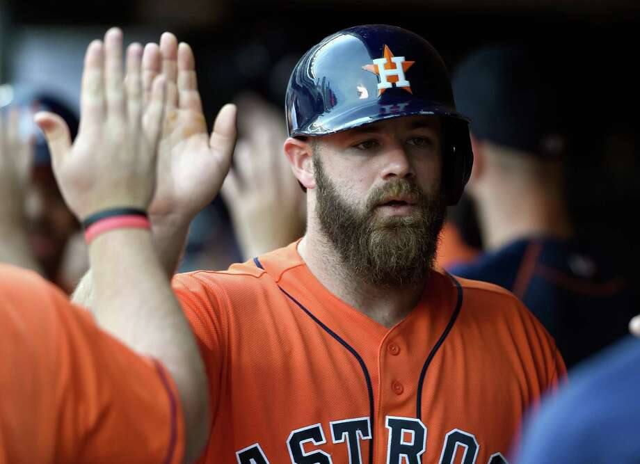 PHOTOS: See what your favorite Houston Astros players looked like as kids This weekend Houston Astros catcher and DH is due to be married in Frisco. We found out where he and the bride are registered if you want to buy the couple a new dish set or bath towel. Click through to see what some of Gattis and some of his teammates looked like as kids... Photo: Hannah Foslien, Getty Images / 2016 Getty Images