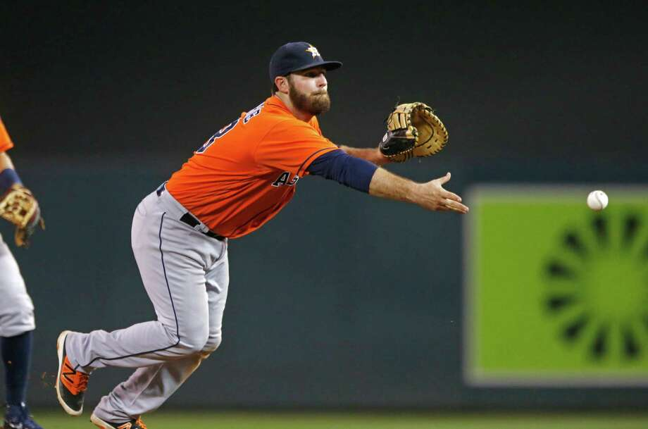 Tyler White became the second position player to pitch for the Astros this season, following former catcher Erik Kratz, who threw an inning in an 11-1 loss to the Mariners in April. Photo: Jim Mone, Associated Press / Copyright 2016 The Associated Press. All rights reserved. This material may not be published, broadcast, rewritten or redistribu