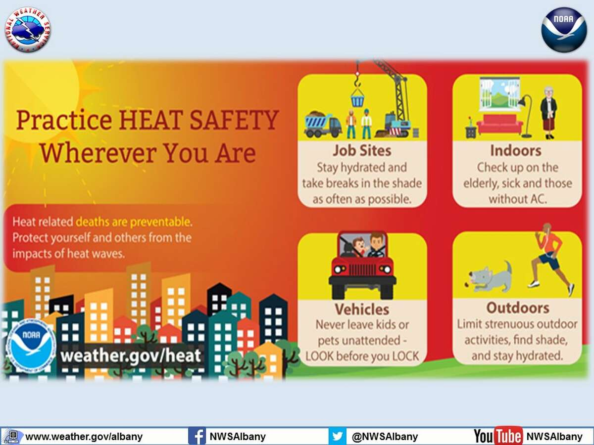 The National Weather Service issued a heat advisory for much of eastern upstate New York. These are some precautions you can take to be safe in the heat. (National Weather Service)