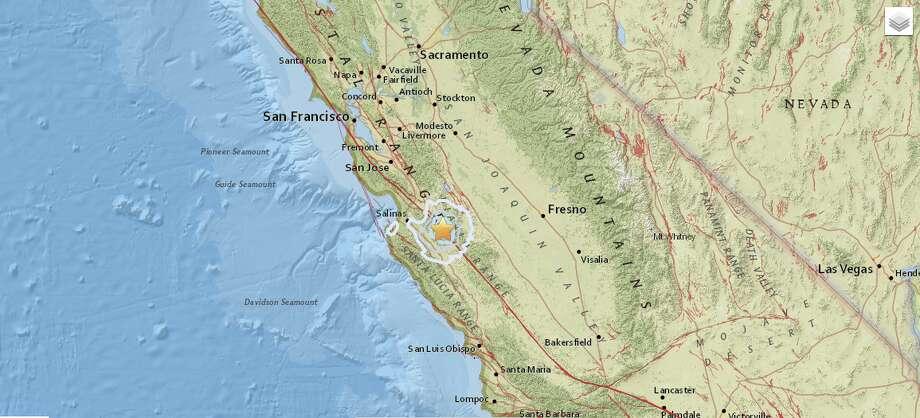 Little shaker!Magnitude-3.5 earthquake rattles Hollister, Calif., early Friday, Aug. 12, 2016. Photo: USGS