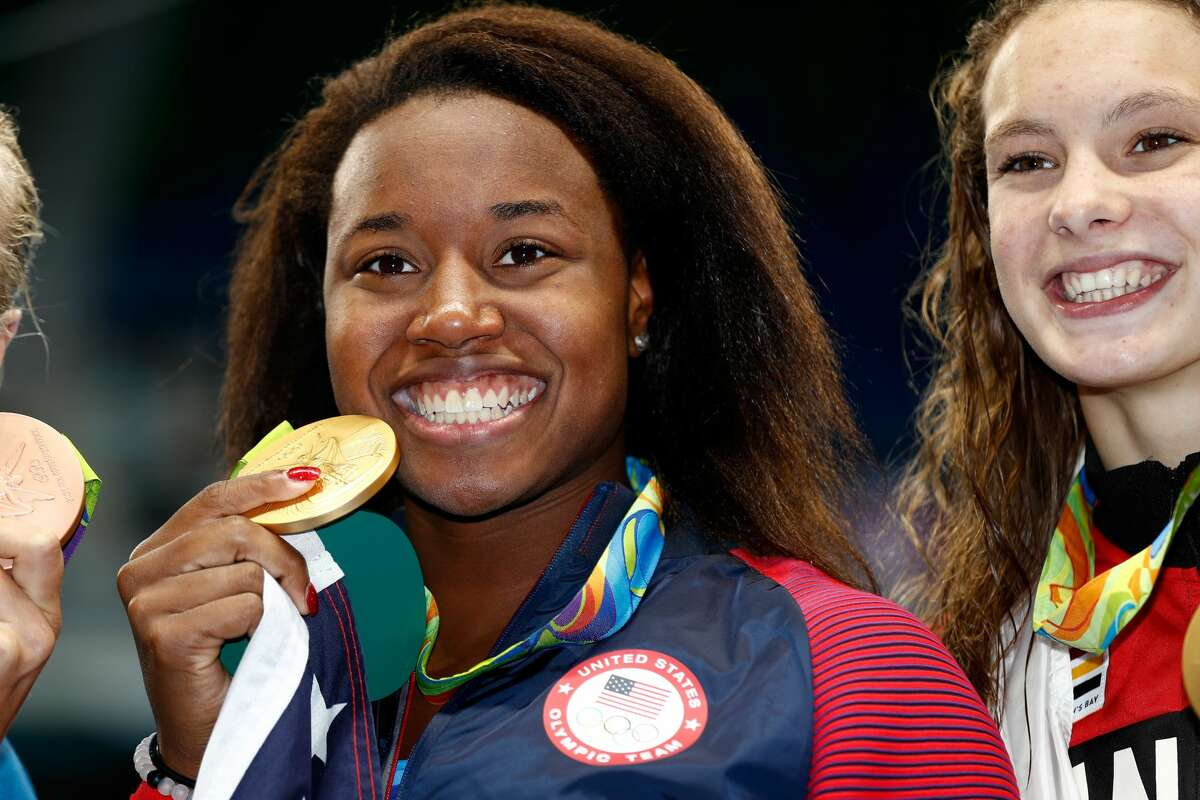 Simone Manuel U.S. Swimmer and Rio Olympian Manuel made history on August 11, 2016, by becoming the first African-American woman to win an individual event at the Olympics. She competed in the Women's 100-meter Freestyle Final on Day 6 of the Rio 2016 Olympic Games at the Olympic Aquatics Stadium and won the gold with a time of 52.70 seconds, which also broke an Olympic record.
