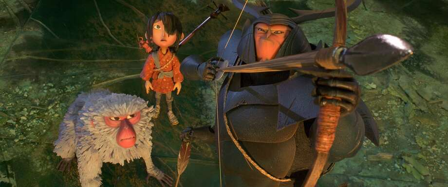 Monkey, Kubo and Beetle are voiced by Charlize Theron, Art Parkinson and Matthew McConaughey, respectively. Photo: Focus Features