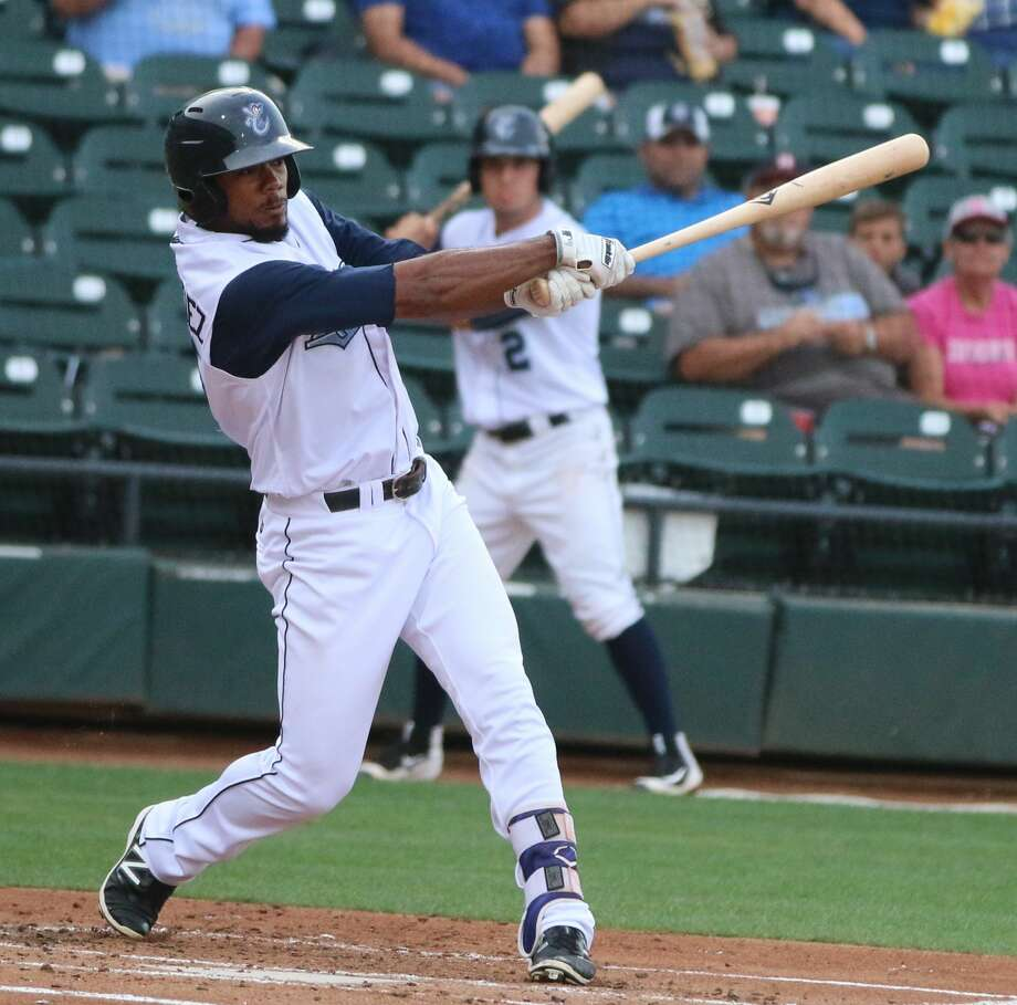 Teoscar Hernandez hit .305 in 69 games at Class AA Corpus Christi with 6 home runs and 30 RBIs with an OPS of .821 before being promoted. Photo: Corpus Christi Hooks