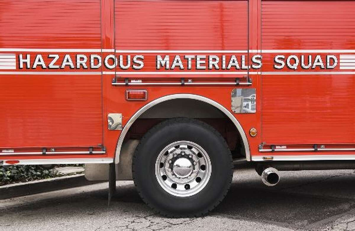 A garbage truck driver was hospitalized in Fremont Friday morning and residents there were warned to shelter in place after a chemical reaction occurred during waste pickup.