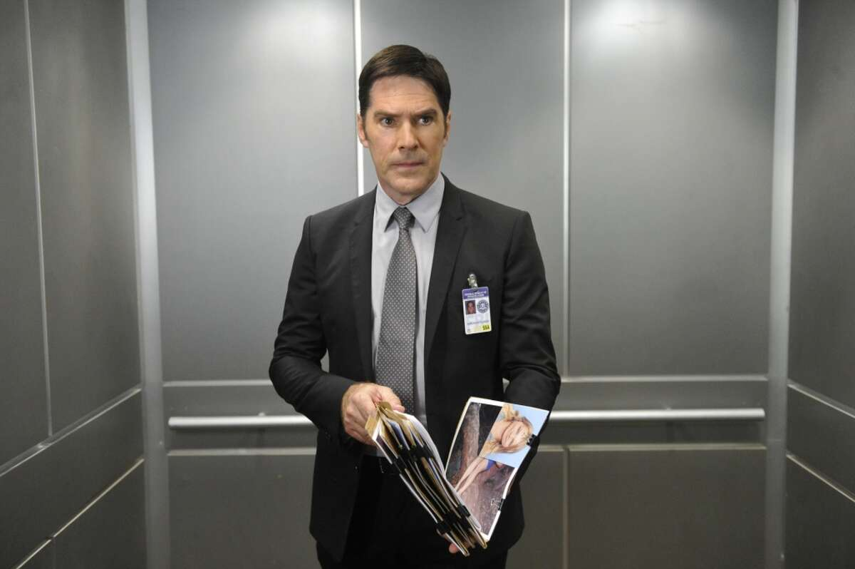 """Pictured is Thomas Gibson as Aaron Hotchner on """"Criminal Minds."""""""