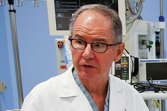 Texas Children's Hospital pediatric surgeon David Wesson in the shock trauma room at the emergency room Tuesday, August 9, 2016 in Houston.