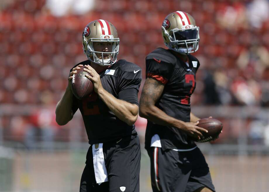 Blaine Gabbert (left) and Colin Kaepernick. Photo: Ben Margot, Associated Press