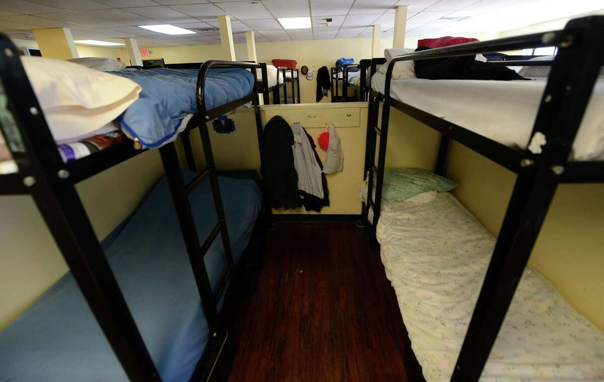 The dorms at the Open Door Shelter in Norwalk, Conn. are at full capacity Friday August 12, 2016. The Open Door Shelter is helping to reduce veteran homelessness in the area as municipalities and the State of Connecticut work together to house homeless vets as part of Zero:2016 program.