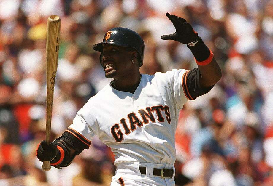 Giants' Barry Bonds in 1996. Photo: MICHAEL MACOR