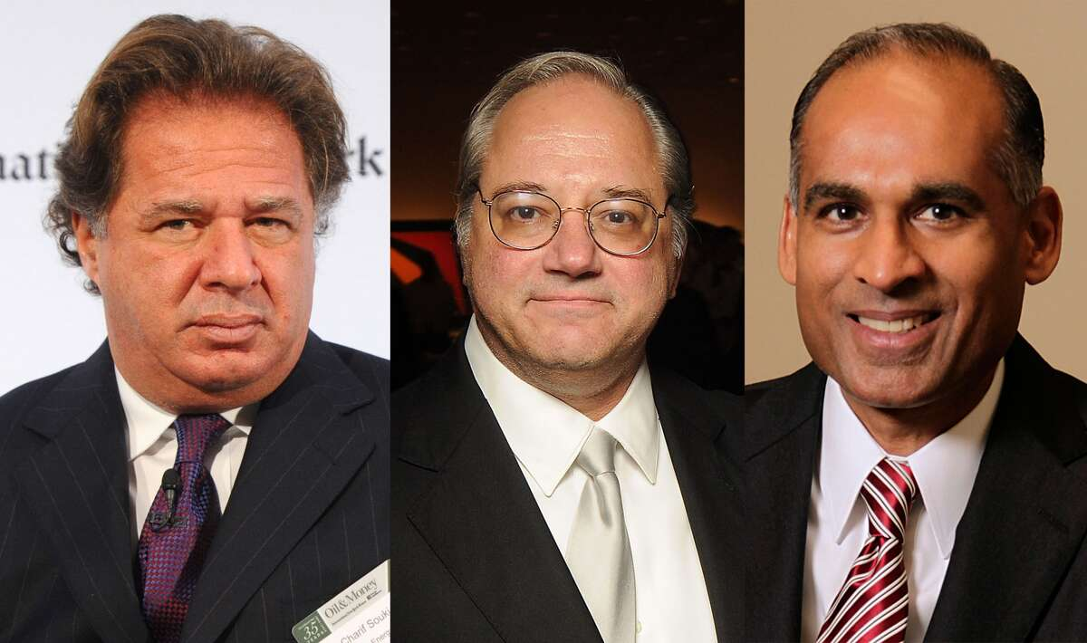 Charif Souki, formerly of Cheniere Energy, from left; Anthony Petrello, of Nabors Industries; and Bob Patel, of LyondellBasell