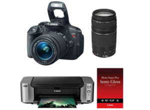 Canon Rebel T5i 18MP DSLR Bundle for $600 after rebate + free shipping