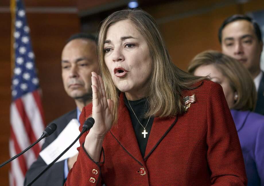FILE - In this Feb. 13, 2015, file photo, Rep. Loretta Sanchez, D-Calif., speaks during a Congressional Hispanic Caucus news conference on Capitol Hill in Washington. Sanchez, now also a US. Senate candidate, is being criticized after suggesting that as many as two of 10 Muslims would engage in terrorism to establish a strict Islamic state. Sanchez said in a statement Friday, Dec. 11, 2015 that the figure does not reflect her views on the Muslim community in America, and most Muslims around the world are committed to peace.(AP Photo/J. Scott Applewhite, File) Photo: J. Scott Applewhite, AP