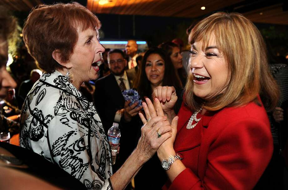 ANAHEIM, CA - JUNE 7: U.S. Senator candidate, congresswoman Loretta Sanchez greets supporters during election night at the Anaheim Brewery on June 7, 2016 in Anaheim, California. Sanchez and State Attorney Gen. Kamala Harris advance to a Senate runoff.(Photo by Wally Skalij / Los Angeles Times via Getty Images) Photo: Wally Skalij, LA Times Via Getty Images