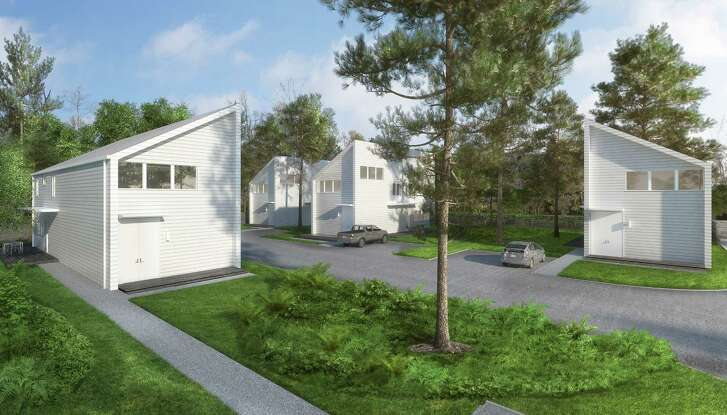 An artist's rendering of NoLo Studios, a residential development planned for artists in Acres Homes.