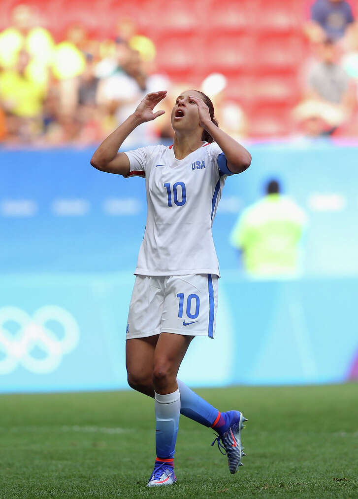 Carli Lloyd and the U.S. women's soccer team  were upset by Sweden.