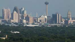 "A view of downtown from the North Side of San Antonio is shown in this 2016 photo. The city's ozone levels have finally triggered what local officials have long feared — a designation of ""non-attainment"" by the Environmental Protection Agency."