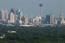This August file photo shows a view of downtown from the North Side of San Antonio. Cites with strong cores enjoy the highest cultural and economic performance, they attract and retain the best talent, and they offer a broader and deeper quality of life to their citizens.
