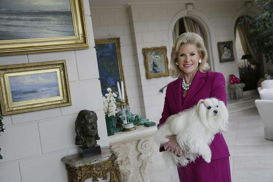 Dede Wilsey poses for a portrait with her dog Dazzle at her home on Tuesday, September 22, 2015 in San Francisco, Calif. Photo: Lea Suzuki, The Chronicle