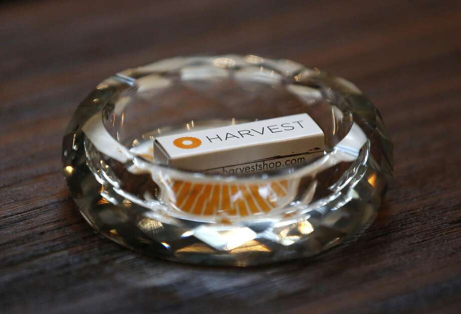 An ornate ash tray sits on a table in Harvest's posh cannabis club in San Francisco. Photo: Leah Millis, The Chronicle