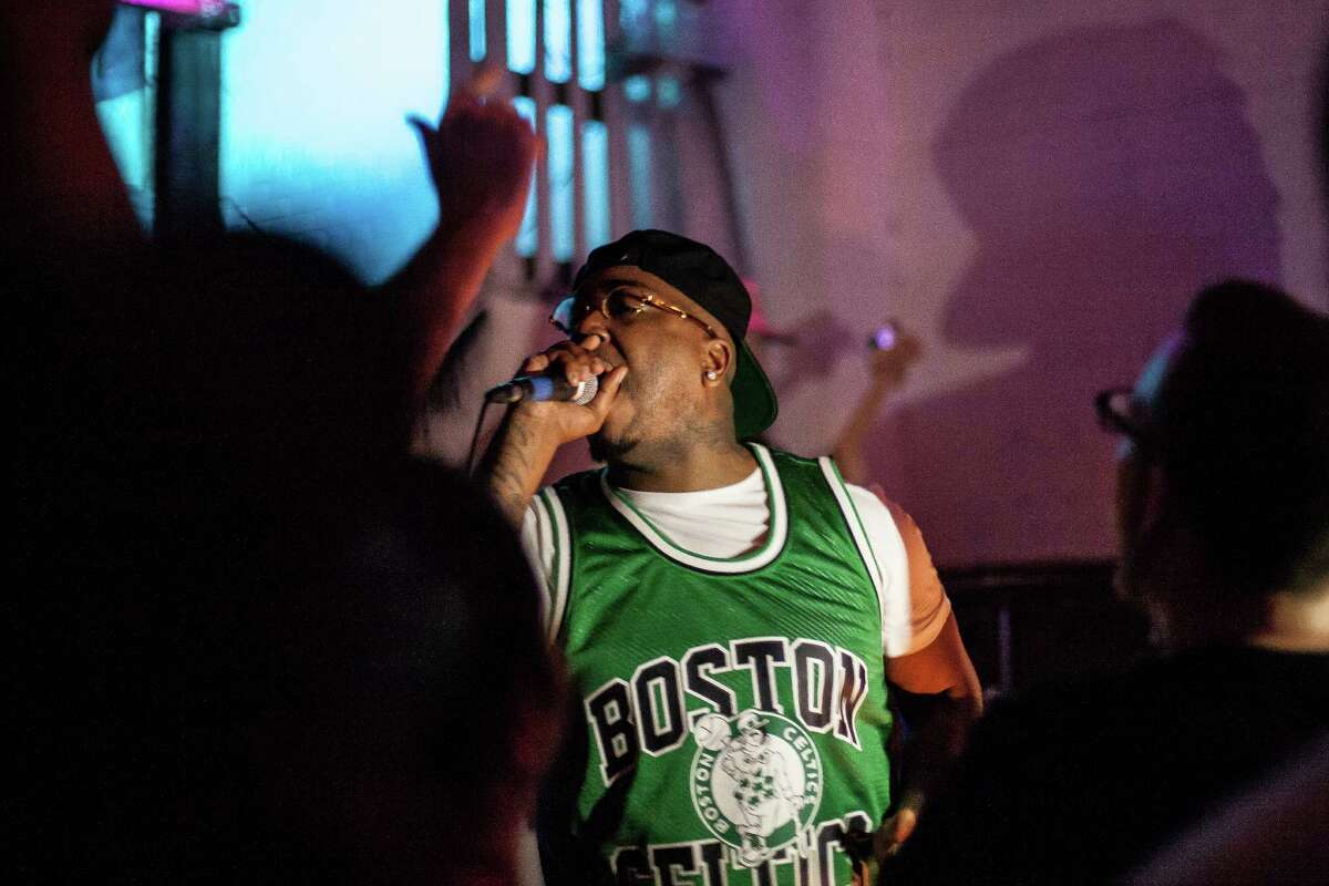 Doughbeezy performs during a show for Roosh Williams at The Safehouse Friday August 12, 2016. The show, possibly Williams' last in Houston, is in celebration of him moving to California.