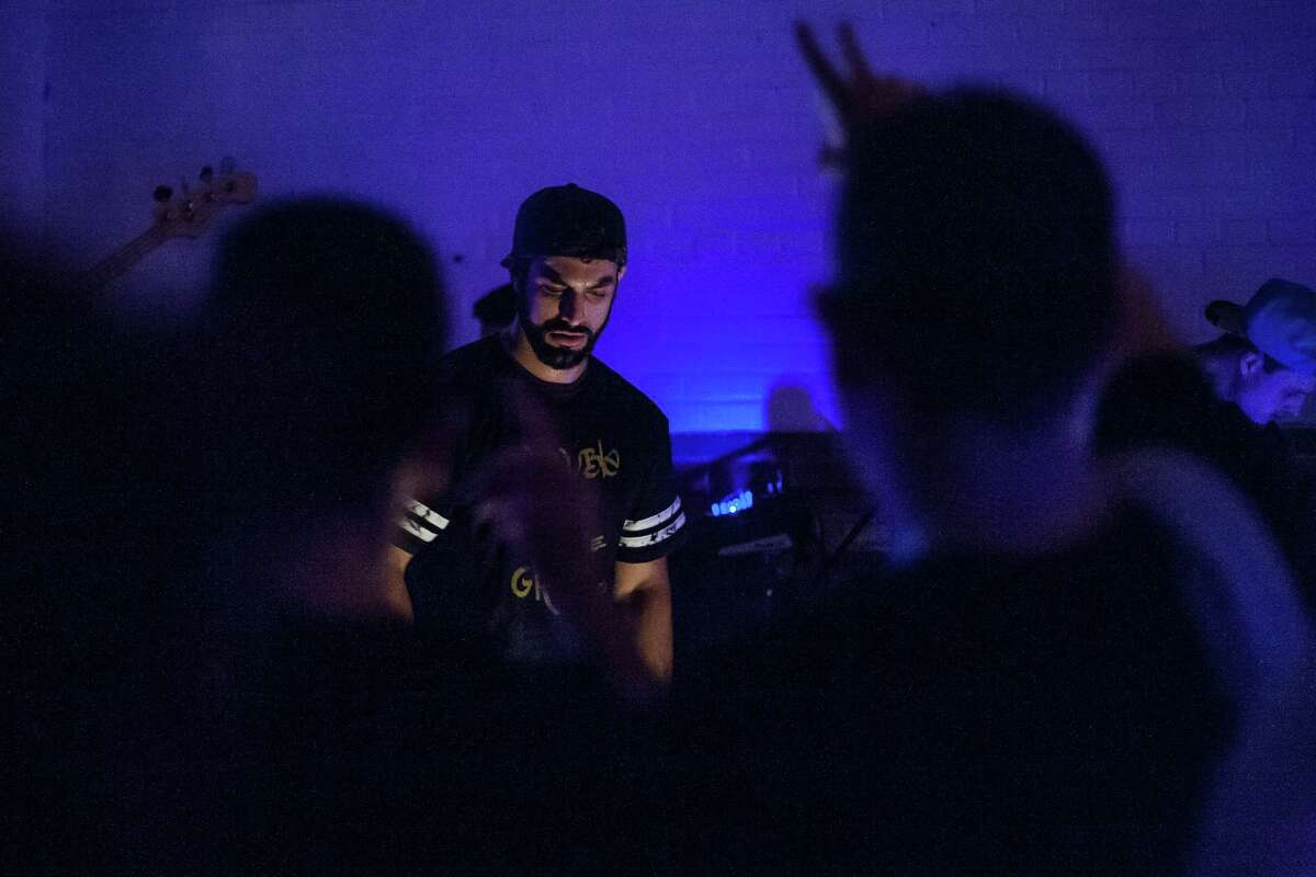 Roosh Williams performs during his show at The Safehouse Friday August 12, 2016. The show, possibly Williams' last in Houston, is in celebration of him moving to California.