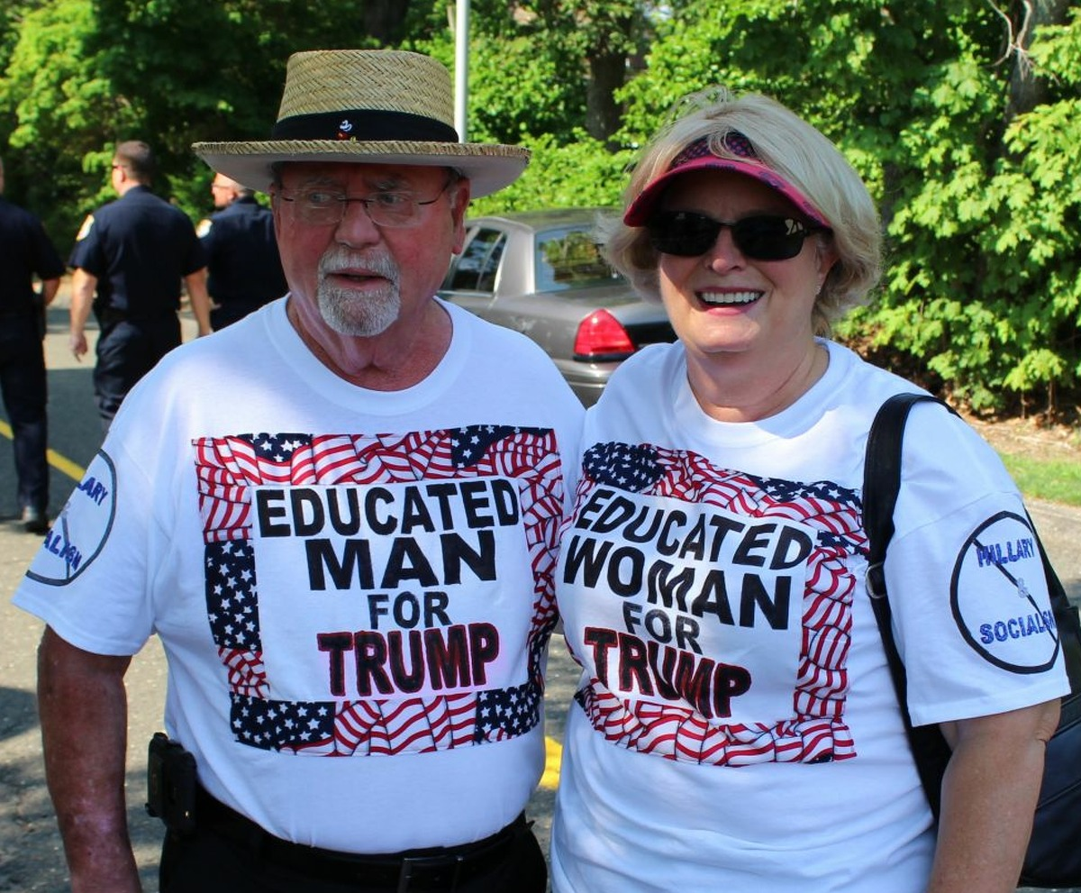 Scenes from Donald Trump's scheduled visit to Fairfield for a rally at Sacred Heart University on August 13, 2016. Tickets were available for free through Trump's campaign website. The rally was set to begin at 7:30 p.m. with doors opening at 4:30 p.m.