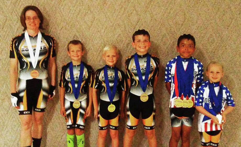 DAN CHALK | chalk@mdn.net Midland Rockets' members, from left, Carrie Selvaraj, Ryder Ahrens, Mason Dowland, Billy Wenzel, Noah Selvaraj and Jillian Dowland won medals at the USA Roller Sp;orts National Championships in July in Lincoln, Neb.