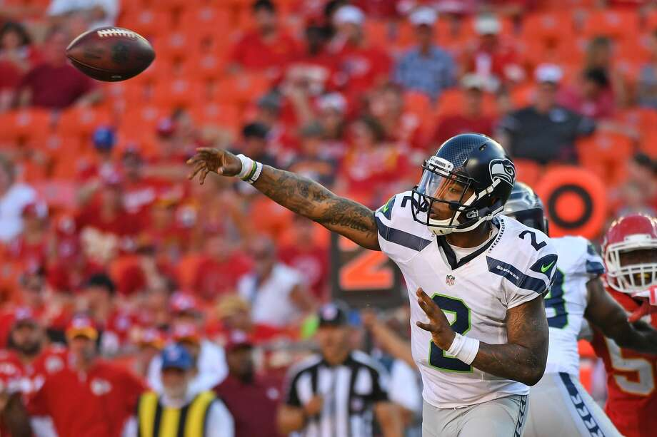 QUARTERBACK (3)Russell WilsonMystery veteran QBTrevone Boykin* (above)Notes: Boykin showed guts and a flair for the dramatic with his game-winning drive on Saturday, but he also displayed his inexperience by making a few mistakes, according to head coach Pete Carroll. That's to be expected with any rookie, but it does underscore the lock of experience behind Wilson. I still think the Seahawks add a veteran reserve here, perhaps a castoff from another team's roster later in August. Photo: Peter Aiken/Getty Images