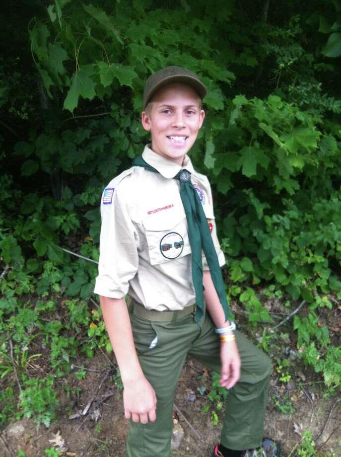 Ashton Smith, 14, is a Kent Boy Scout Photo: Contributed Photo