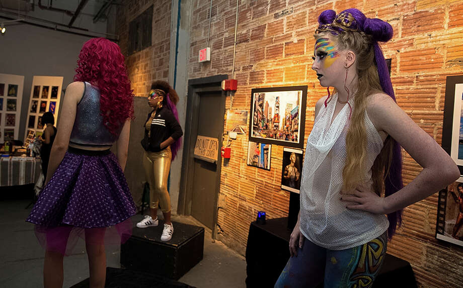 The Summer Art Showcase at Brick Saturday night, Aug. 13, 2016, featured nine art teams who worked to create body painted masterpieces. Photo: By B. Kay Richter, For MySA