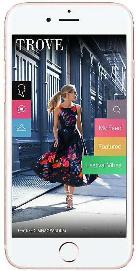 Trove is a new a style content app and platform for fashion bloggers founded by Memorandum blogger Mary Orton and her husband, Rich Scudellari. Screenshots from the app show the home page, the feed users can customize, an outfit post, and the closet feature that allows users to archive favorite looks. Pictured is the app's home page. Photo: Trove