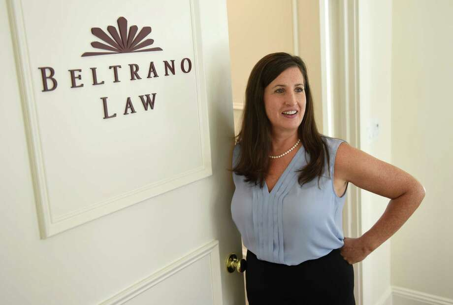 Greenwich health care attorney Michelle Beltrano poses in her office at Beltrano Law in downtown Greenwich. Photo: Tyler Sizemore / Hearst Connecticut Media / Greenwich Time