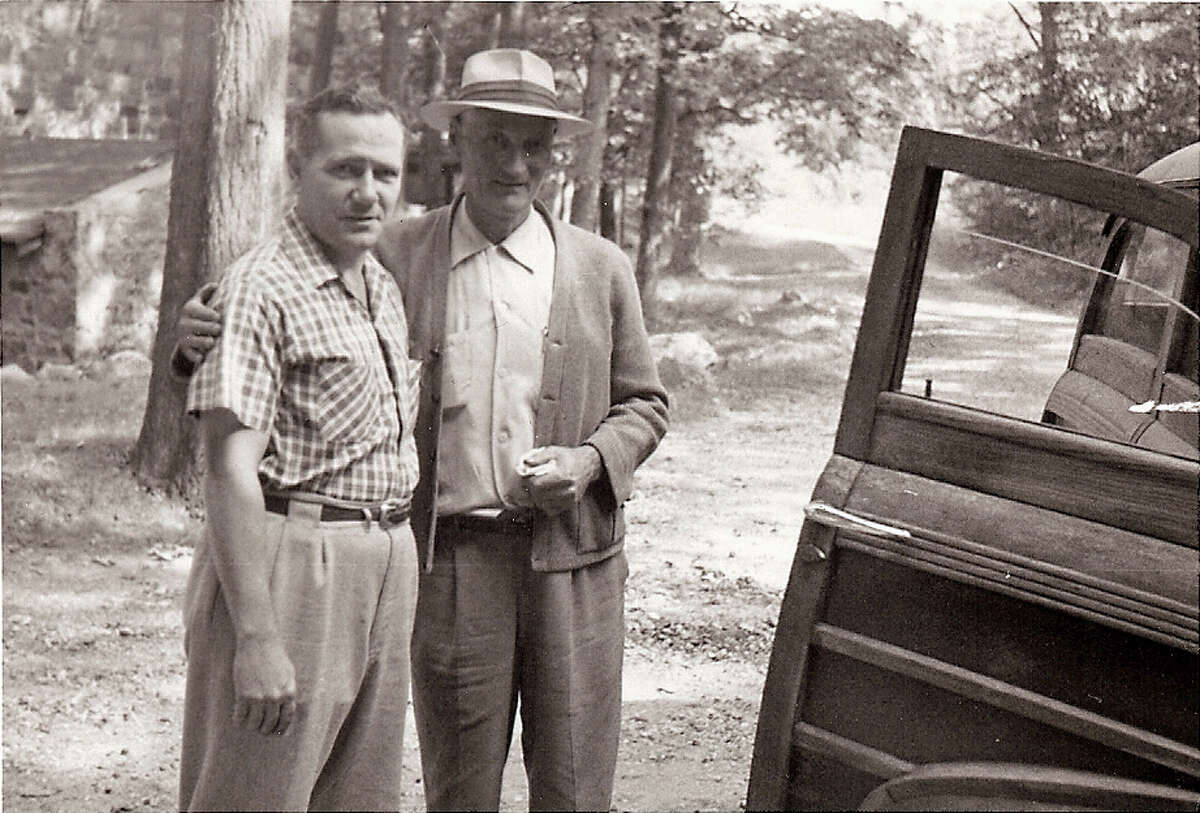 Luigi Del Bianco, left, worked closely with Gutzon Borglum to design Mount Rushmore in a Stamford studio during the 1930s.