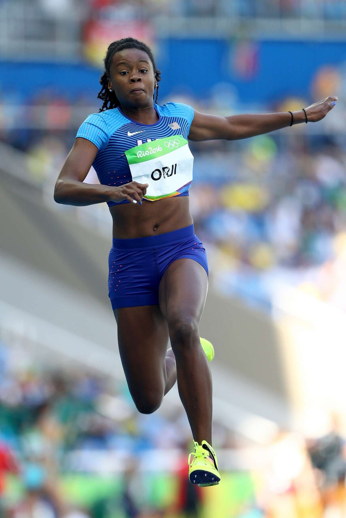 Keturah Orji won gold in the women's triple jump Sunday, Aug. 13, 2016.
