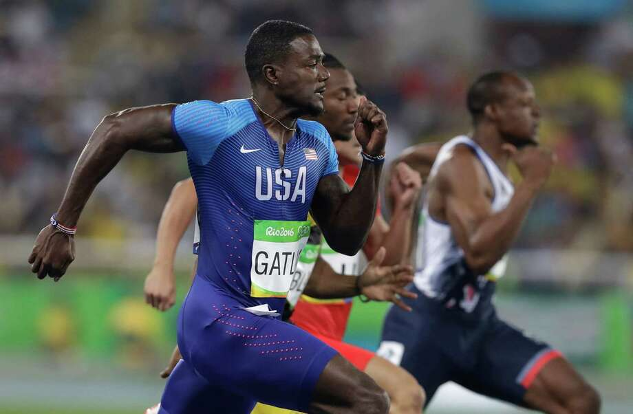United States' Justin Gatlin competes in the men's 100-meter semifinal during the athletics competitions of the 2016 Summer Olympics at the Olympic stadium in Rio de Janeiro, Brazil, Sunday, Aug. 14, 2016. Photo: Kirsty Wigglesworth, AP / Copyright 2016 The Associated Press. All rights reserved. This material may not be published, broadcast, rewritten or redistribu